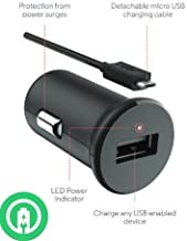 Turbo Fast Powered 15W Car Charger works with LG G3 Cat. 6 includes Detachable Hi-Power MicroUSB Cable!