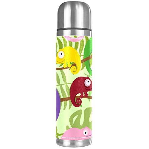 Thermos ThermoCafé Botella térmica aislada,Patrón de Pingüinos Animales Lindos,Frasco de Vacío de Acero Inoxidable 500 ml