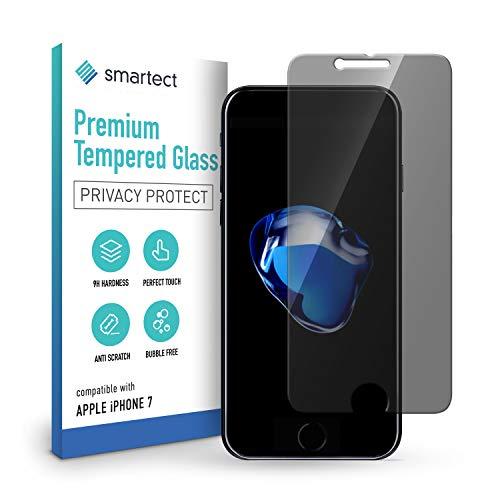 smartect Privacy Schutzglas kompatibel mit Apple iPhone 8/7 mit Blickschutz [PRIVACY] - Tempered Glass mit 9H Härte - Blasenfreie Schutzfolie - Anti-Kratzer Displayschutzfolie