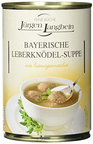 Jürgen Langbein Bayrische Leberknödel-Suppe, 6er Pack (6 x 400 ml)