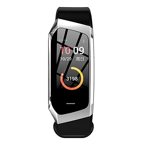 Smart product Pulsera Bluetooth Inteligente, Pantalla de Colores HD Llamada Reloj Deportivo, podómetro Multifuncional para el sueño con presión Arterial Android iOS Universal Regalo ZDDAB