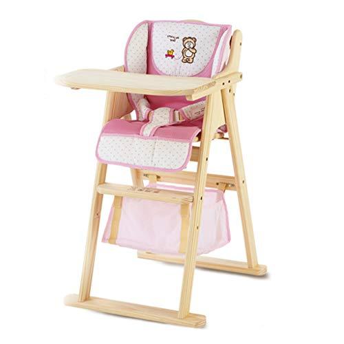 Chaises hautes, sièges et Accessoires Chaise de Salle à Manger pour bébé siège Enfant en Bois Massif Chaise à Lunch pour bébé Les Enfants mangent Une Chaise en Bois Massif Chaise de rehaussement de t
