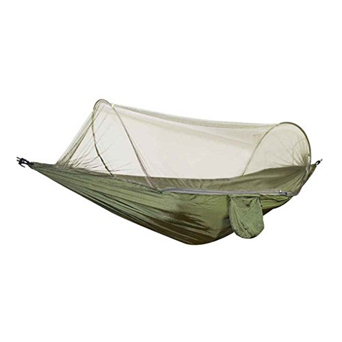 Gankmachine Automatic Mosquito Net Ourdoor Hammock Parachute Fabric Single Person Sleeping Tent Camping Travel Hanging Bed