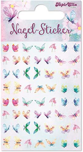 56 Ohr- und Nagelsticker * Schmetterlinge * für Kinder und Erwachsene | Sticker Ohrsticker Mädchen Butterfly