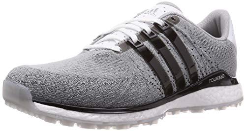 adidas Golf Tour 360 XT-SL Mens Textile Waterproof Spikeless Golf Shoes Cloud White/Core Black/Grey Two 10UK
