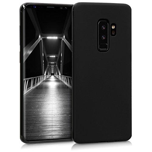 kwmobile Hülle kompatibel mit Samsung Galaxy S9 Plus - Hülle Silikon - Soft Handyhülle - Handy Hülle in Schwarz matt