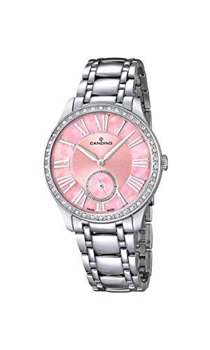 Candino Damen Analog Quarz Uhr mit Edelstahl Armband C4595/2
