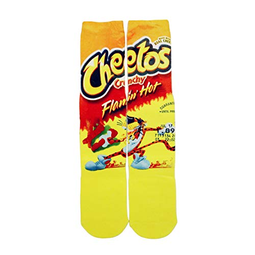 Crazy Fun Cool 3D Print Cheetos Novelty Crew Socks Mens,Cheetos