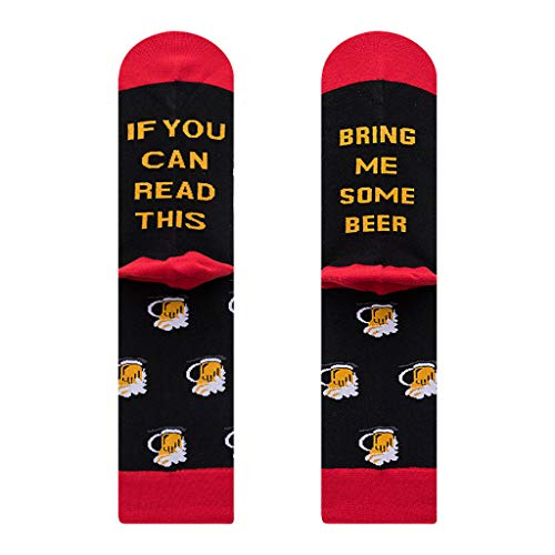 Baiyao Calcetines unisex con texto en inglés 'If You Can Read This Socks'