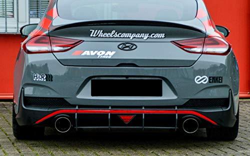 Cup Diffusor Ansatz für i30N Fastback Heck Stoßstange Splitter ABS IN