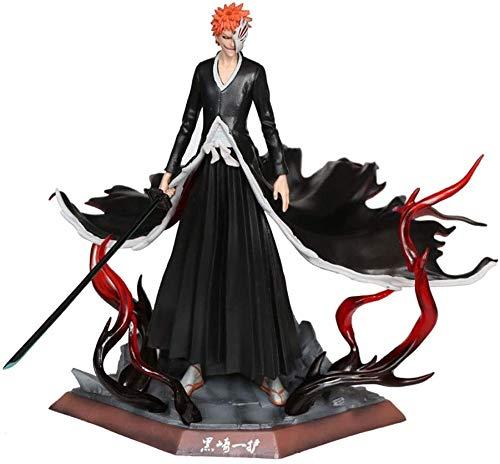 Anime Sensenmann Kurosaki Ichigo Schimmel Spielhalle Unschärfe Maske PVC Modell Statue, Charakter Spielzeug Sammlung, dekorative Geschenksammlung 23cm