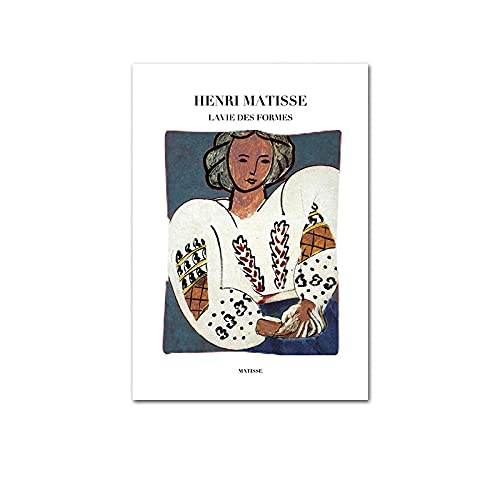 Matisse arte abstracto mujer línea pintura cartel impresión minimalista pintura moderna sin marco lienzo pintura A2 60x90cm