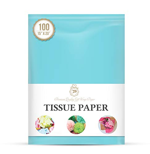 Oxford Blue Wrap Tissue Paper 15 Inch X 20 Inch - 100 Sheets