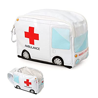 Balvi Medicines case Ambulance White colour Neceser drug to include first aid kit Laptop Briefcase shaped ambulance to take medicines PVC plastic 17x24x12 cm by Balvi Gifts S.L.