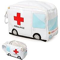 Balvi Estuche medicamentos Ambulance Color blanco Neceser de medicamentos para poder incluir botiquin de primeros auxilios Maletin portátil en forma de ambulancia para llevar medicinas Plástico PVC 17x24x12 cm