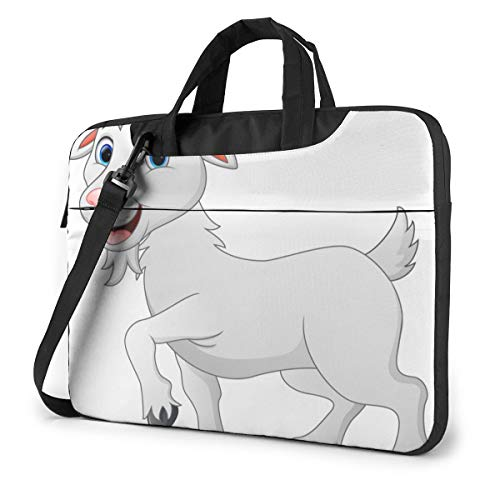 Cartoon Goat Laptop Bag Protective Case Computer Messenger Briefcase Women Men 14'