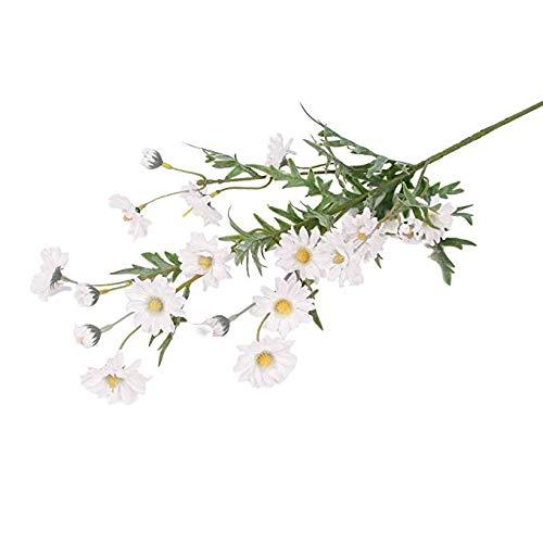DWLXSH Flores Artificiales Falso Margarita pequeña Hojas de Flores Falsas Hogar Boda Cafetería Decoración Flores de Seda Mesa Floral Centros de Mesa Arreglos Hogar Cocina Oficina Alféizar