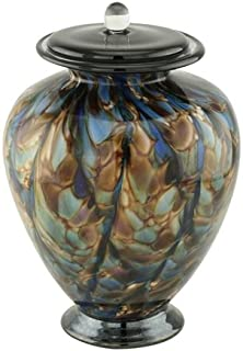 Silverlight Urns Sonata Blown Glass Urns for Ashes, Multi-Color Glass Cremation Urn, Adult Sized