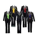 CHANGL 8PCS Twisted Wonderland = Juego de disfraces de cosplay Conjunto de trajes de uniforme escolar con accesorios Ropa de carnaval de Halloween de alta calidad