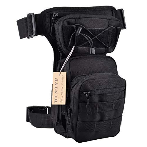 Huntvp® Taktisch Beintasche Militär Beinbeutel MOLLE Hüfttasche Sport Tactical Leg Bag Armee Beintaschen Wasserdicht Gürteltasche Werkzeugtasche Tasche für Bein Herren Damen Motorrad Wandern Outdoor
