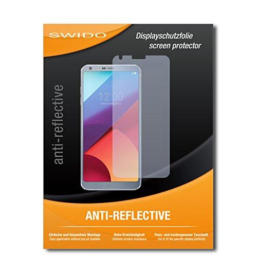 SWIDO Schutzfolie für LG G6 [2 Stück] Anti-Reflex MATT Entspiegelnd, Hoher Festigkeitgrad, Schutz vor Kratzer/Bildschirmschutz, Bildschirmschutzfolie, Panzerglas-Folie