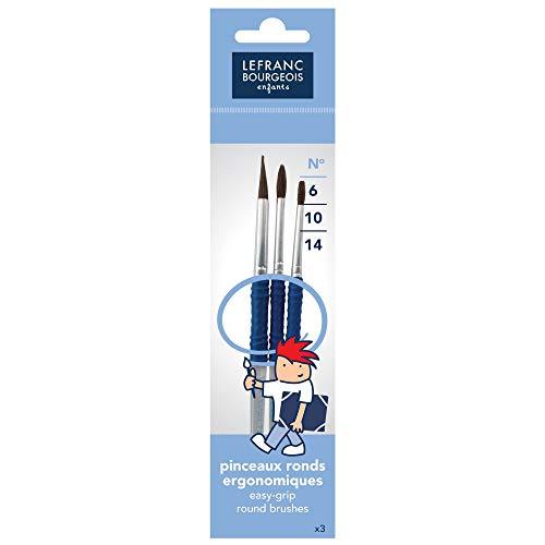 Lefranc & Bourgeois - Set de 3 pinceles redondos varios tamaños , color/modelo surtido