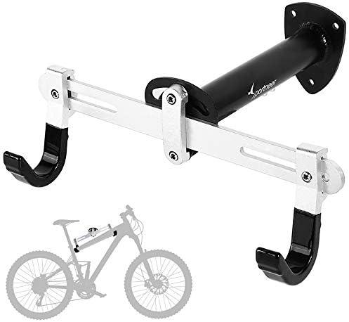 Sportneer Bike Wall Mount Horizontal Metal Adjustable Bicycle Rack Holder Hook for Road Bike product image