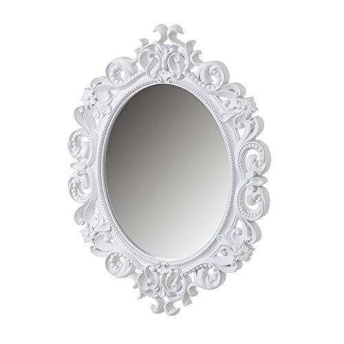 Espejo Cornucopia clásico Blanco de Polipropileno de 80x60 cm - LOLAhome
