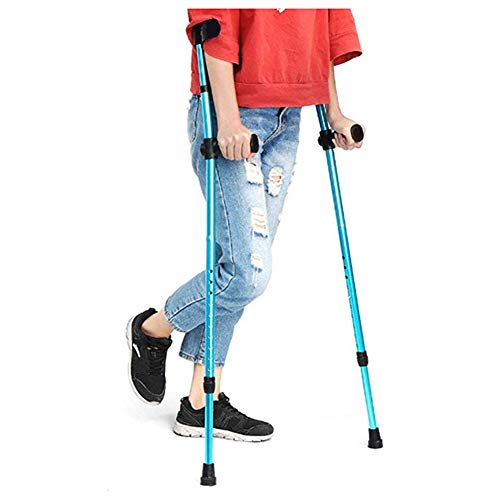 LFFME Muletas Adultos Médicos, Ajustable par de muletas muletas de Aluminio Adultos de muletas, bastón de Apoyo del antebrazo, Pregunta Marcas, Asistencia Ajustable Movilidad