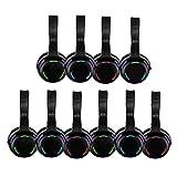 Silent Disco 10pcs led Headphones Bundle
