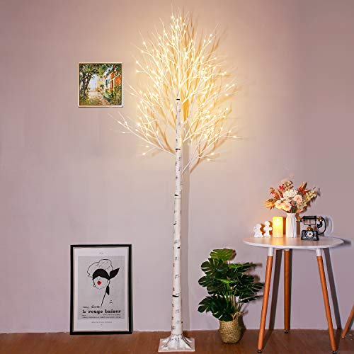 Amazon - 8ft Lighted Birch Tree $53.99