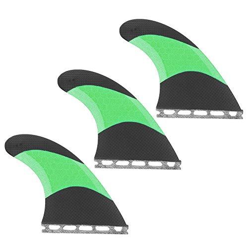 nologo Victool Surf Surfboard Finnen Hochleistungsglasfaser Skeg Tracking Fin Integral Finnen Future G5 für Kajaks Kanus Ruderboote(Grün)