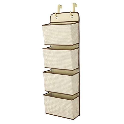 Navigatee Tür-hängende Beutel-Speicher-Organisator - 4 Taschen, hängende Tasche hinter der Tür Vlies, mit dauerhaftem Tür-hängendem Haken, für Unterwäsche, Zeitschriften, BHs, Bücher, Babyprodukte