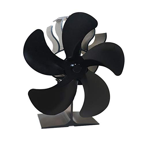 Wandofenlüfter Heißluftofenlüfter, 5-Blatt-Kaminlüfter Geräuschloser Überhitzungsschutz, hoher Wirkungsgrad, geeignet für Holzofen/Holzofen/Kamin