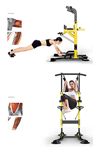 Product Image 5: Fitness equipment Pull-up Bars Free Standing Stand Dip Station Power Tower Pull-up Bar Strength Training for Home Gym 990 Weight Capacity (Size : A-Black)