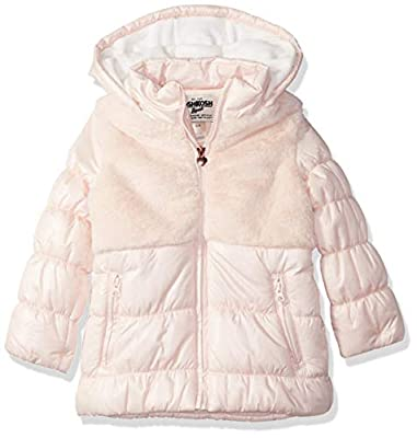 Osh Kosh Girls' Big Parka with Cozy Vestee, Millenial Plush Pink, 7/8