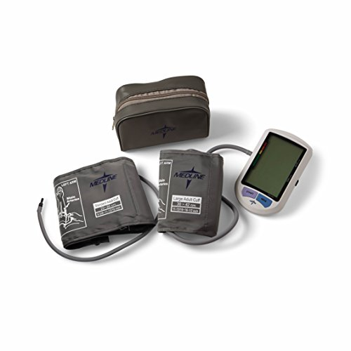 Medline - MDS3001PLUS Plus Elite Automatic Digital Blood Pressure Monitor with Adult and Large Adult Cuffs