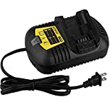 Biswaye DCB115 DCB112 Battery Charger Replacement for Dewalt 12V MAX and 20V MAX Lithium Battery DCB207 DCB201 DCB205 DCB204 DCB203 DCB120 DCB127 Replacement DCB105 DCB107 DCB101