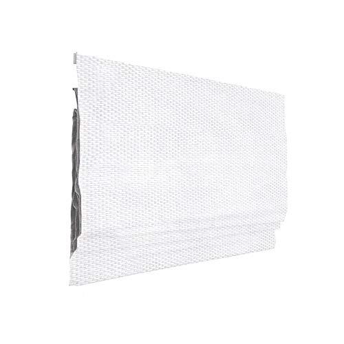 Victoria M. Ivora Klemmfix Raffrollo Faltrollo Rollo ohne Bohren für Fenster und Türen, 160 x 175 cm, weiß