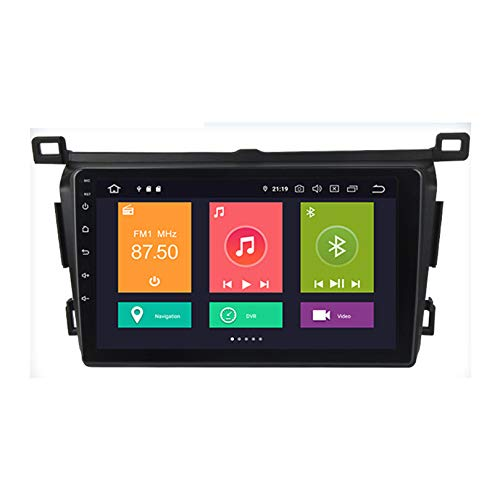 HP CAMP Car Stereo GPS Navegación Carplay DPS Integrado Android 10.0 PX6 Reproductor de para Toyota RAV4 2018-19 | 2.5D Pantalla LCD Táctil | USB | WLAN | Bluetooth/Reverse Camera(Gift)