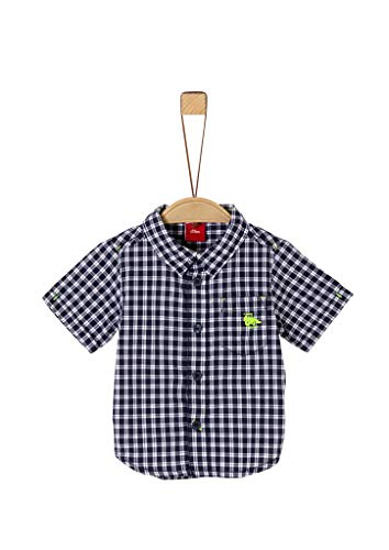 s.Oliver Junior Baby-Jungen 405.10.004.11.120.2038334 Hemd, Blue Check, 86