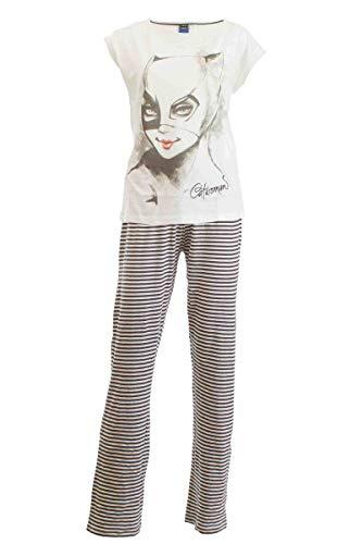Damen Pyjama Schlafanzug Nachtwäsche 271249 Batman/Catwoman S 36/38