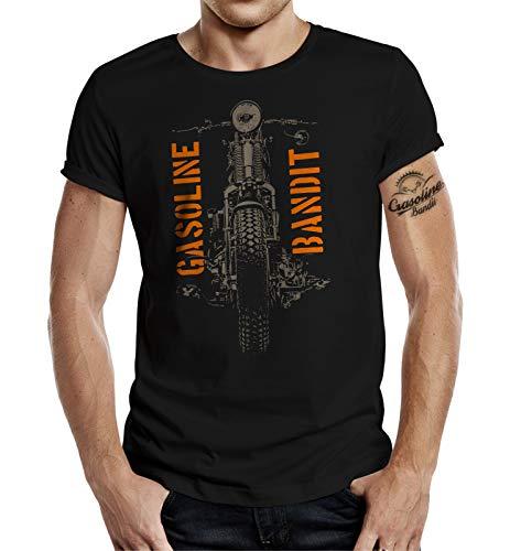 Biker Racer T-Shirt: Springer (XL, Schwarz)