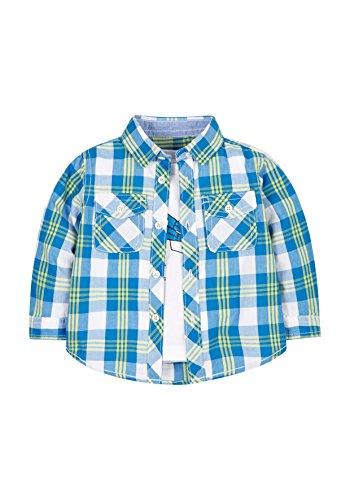 Mothercare Checkered Patch T-Shirt, Bleu, 3-4 Ans Bébé garçon