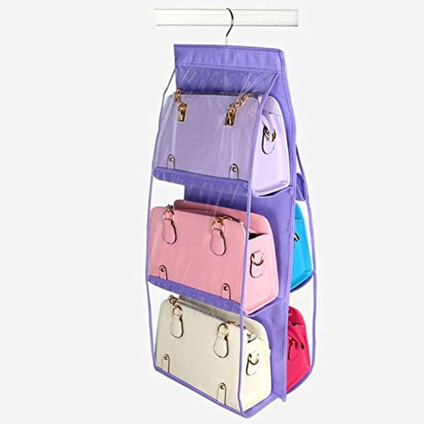 6 Pocket Folding Hanging Handbag Storage Sundry Storage Bag Shoe Organizer for Organizer Close Closet Supplies Hanging Home