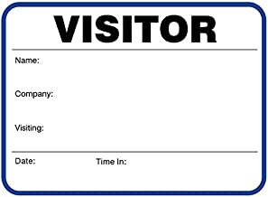 Visitor Badge Sign-in Book with Large Badges 3-1/2