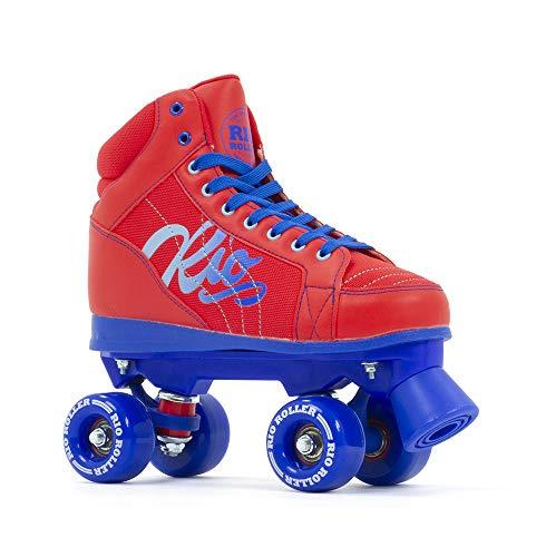 Rio Roller Lumina Quad Skates Rollschuhe rot-blau rot-grün, 38