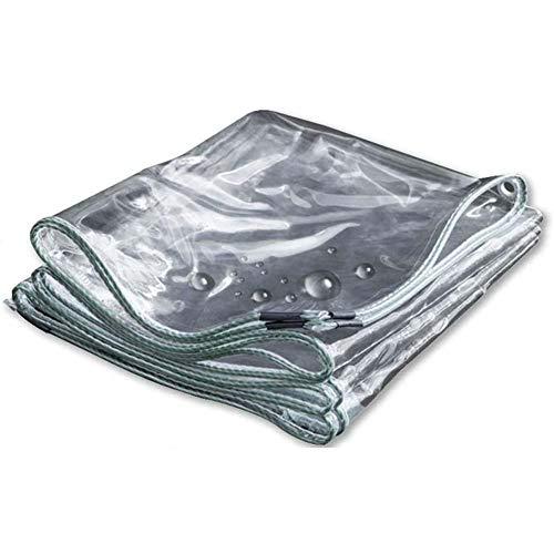 KANGSHENG Lona Transparente Impermeable,600 G/M² Lámina De Lona Impermeable a Prueba De Polvo,Aislamiento PVC Cubierta Exteriores Resistente Al Desgarro,Antienvejecimiento,1 * 2m