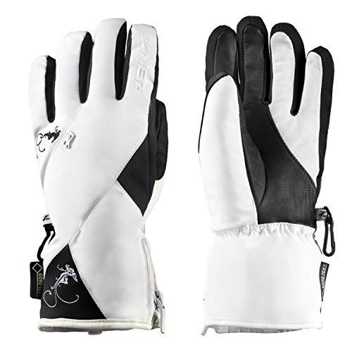 Zanier Handschuhe Aurach GTX für Damen Wasserdicht, Farbe:Weiss, Damen Größen:L
