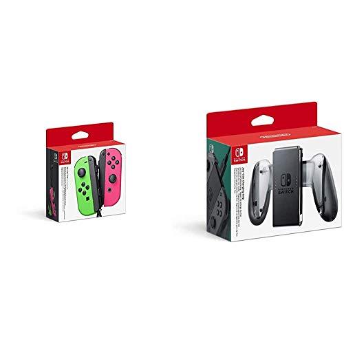 Joy-Con 2er-Set Neon-Grün/Neon-Pink & Nintendo Switch Joy-Con-Aufladehalterung